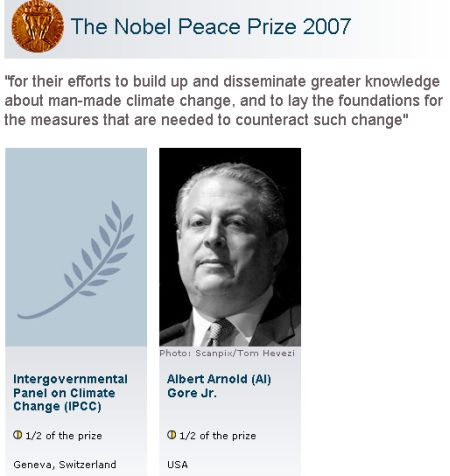 an analysis of the concerns of al gore a nobel peace prize winner